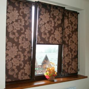 тканевые ролеты на окнах фото реальных работ