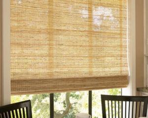 бамбуковые жалюзи на окна в интерьере фото