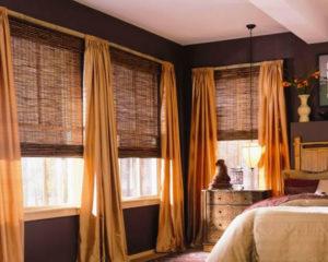 бамбуковые жалюзи в спальне фото