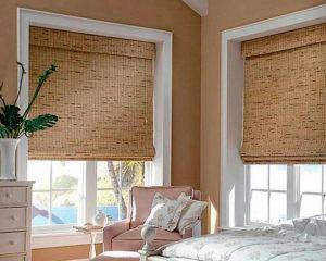 бамбуковые жалюзи в интерьере спальни фото