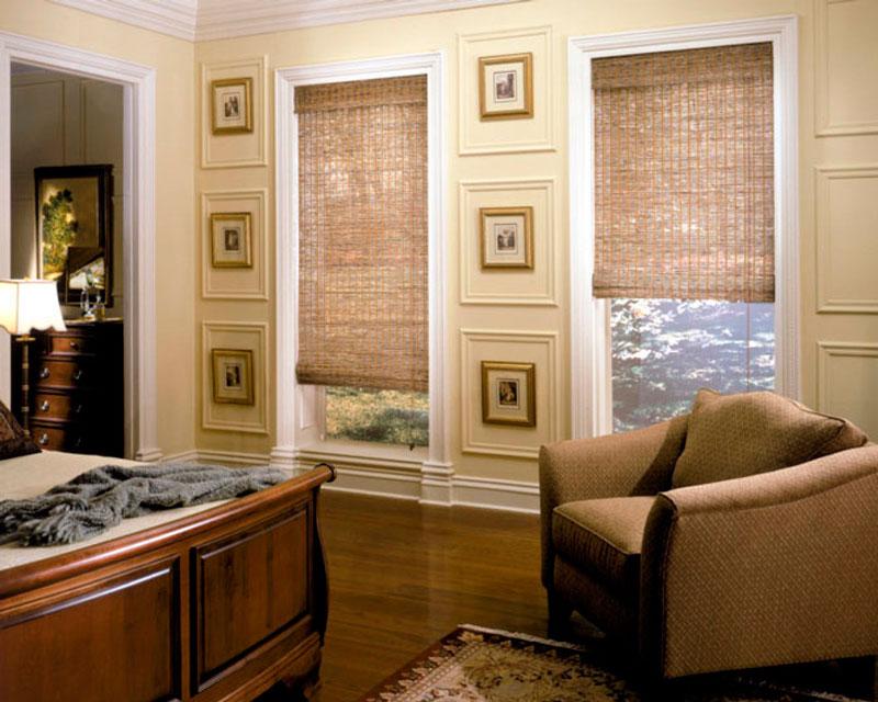 бамбуковые ролеты в интерьере гостиной фото