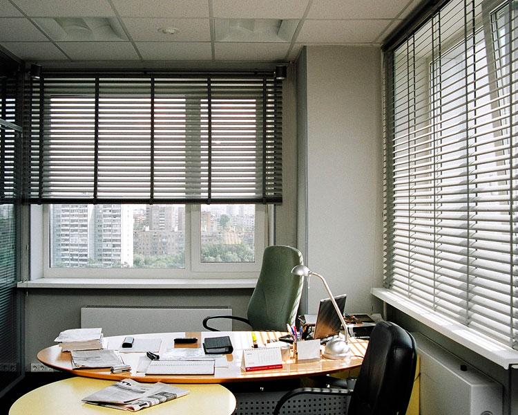 алюминиевые жалюзи для офиса фото