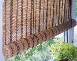 бамбуковые ролеты фото
