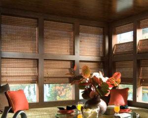 бамбуковые ролеты в интерьере фото