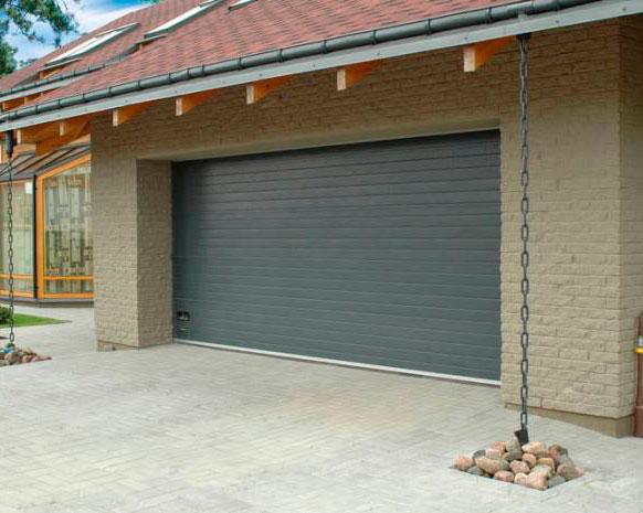 автоматические защитные ролеты на гараж фото
